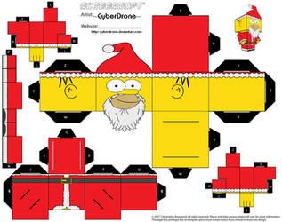 Cubee - Santa Homer by CyberDrone