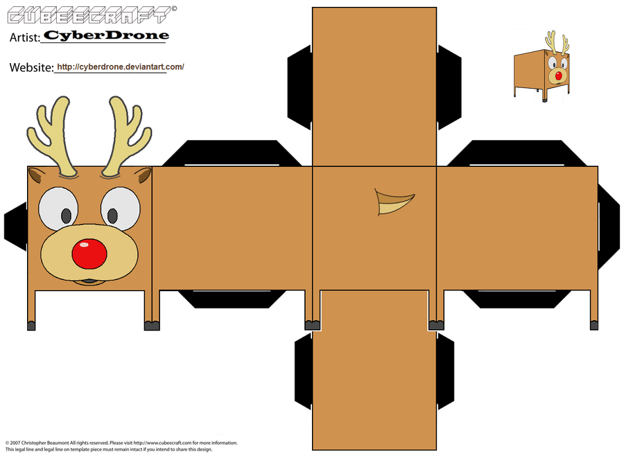 Cubee - Rudolph by CyberDrone on DeviantArt