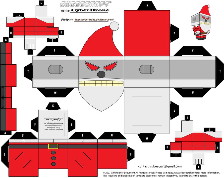 Cubee - Evil Robot Santa by CyberDrone on DeviantArt
