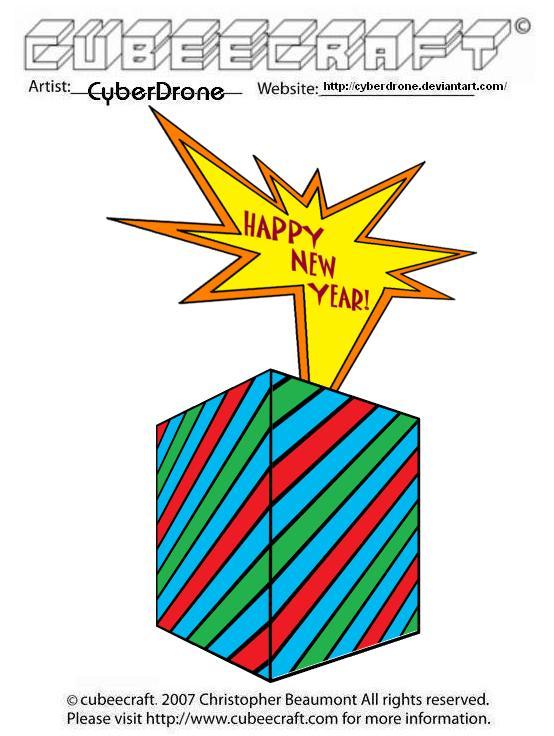 Happy New Year Cubeecraft by CyberDrone on deviantART