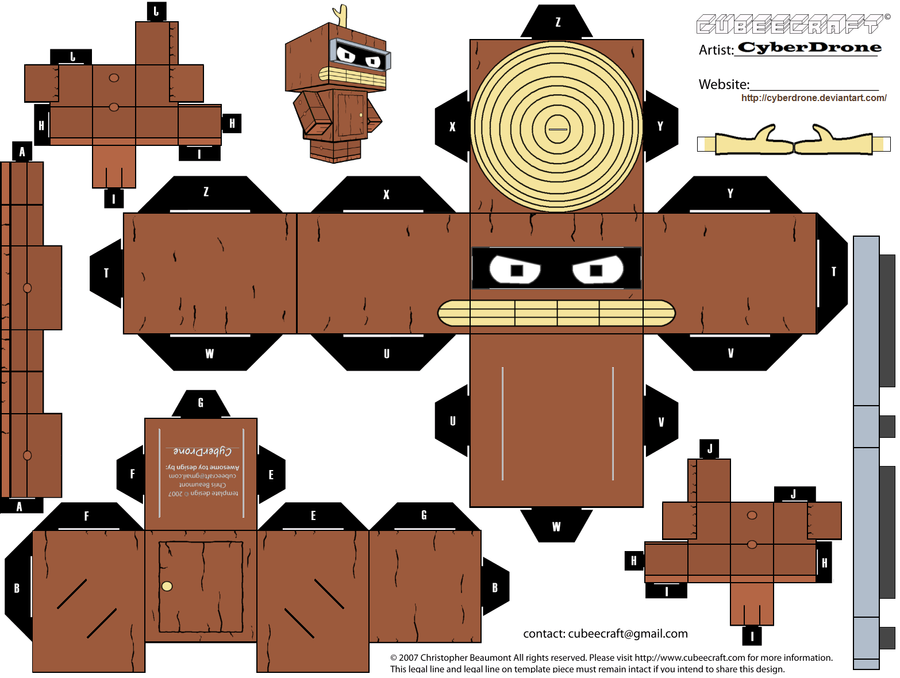 Cubee - Bender 'Wooden Ver' by CyberDrone