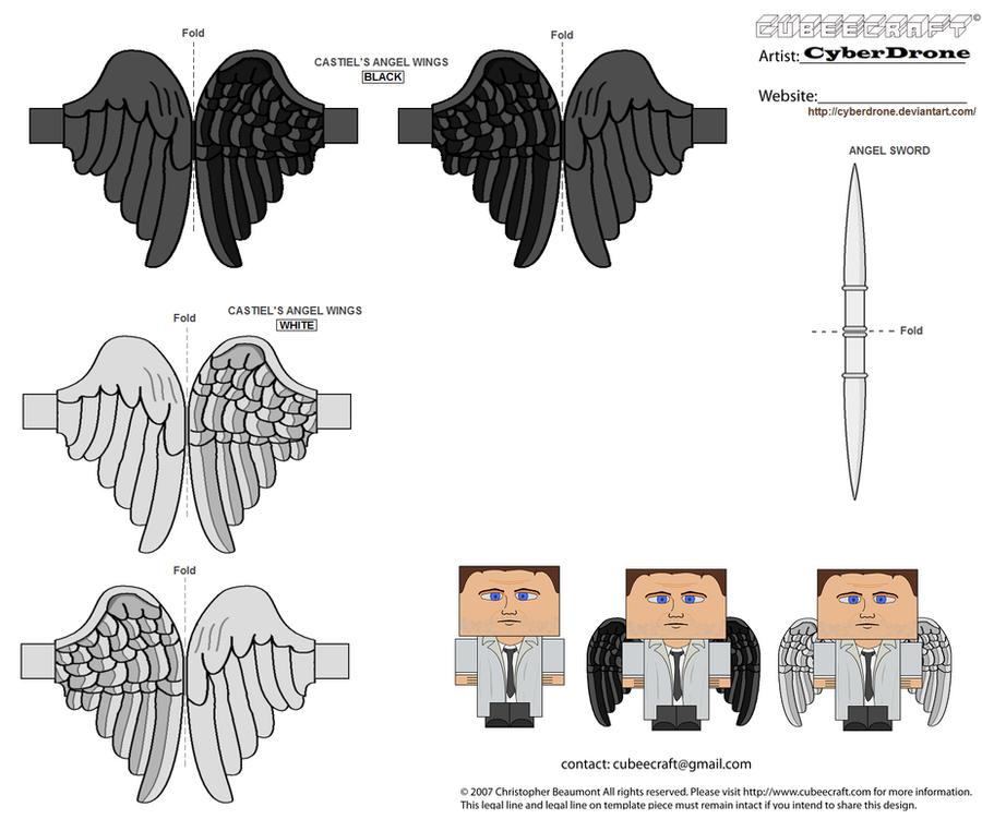 Cubee - Castiel 'Wings' by CyberDrone