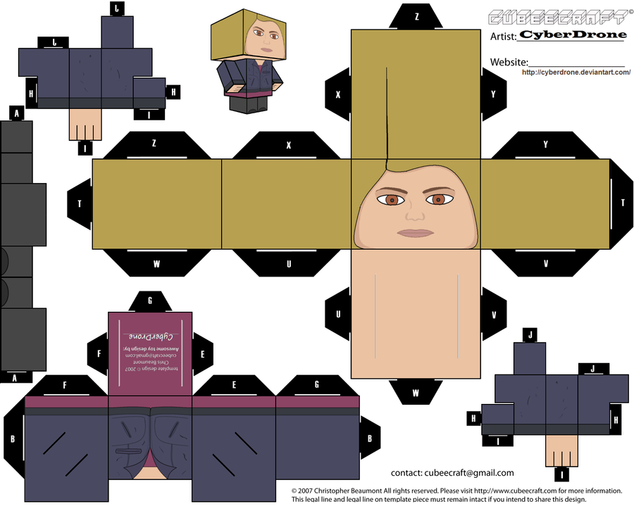 Cubee - Rose Tyler 'Ver2' by CyberDrone