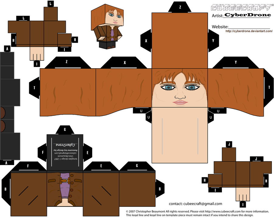 Cubee - Donna Noble by CyberDrone