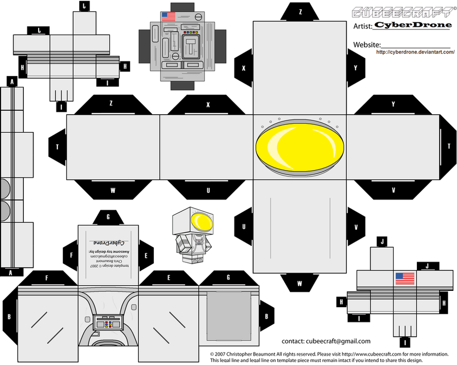 cubee astronaut by cyberdrone on deviantart