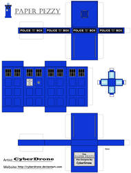 Paper Pezzy- TARDIS by CyberDrone