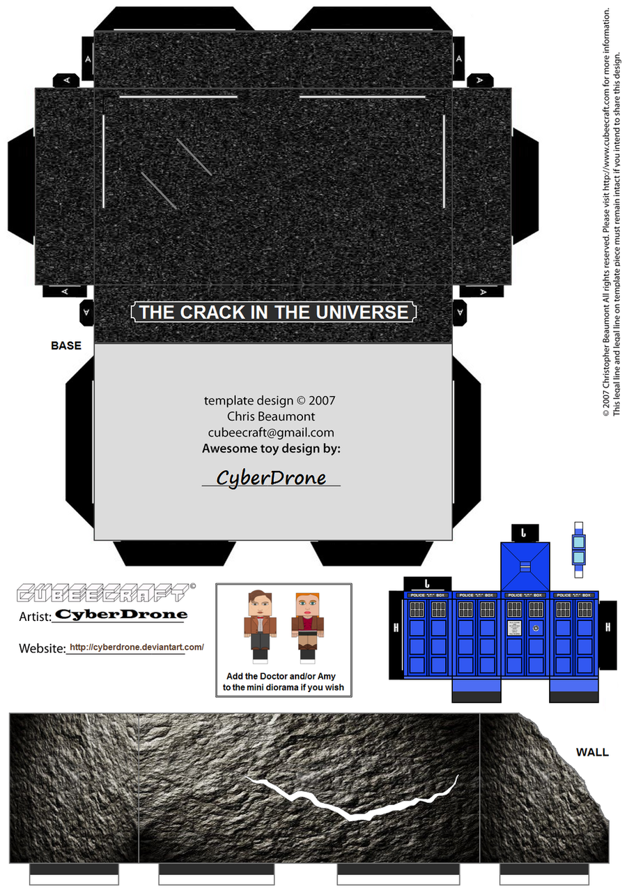 Cubee - Dr Who Mini Diorama by CyberDrone
