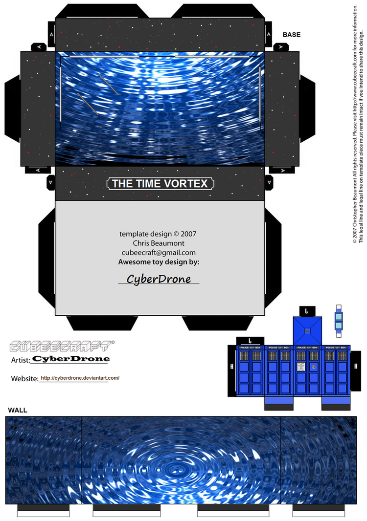 Cubee - Dr Who Mini Diorama 2 by CyberDrone
