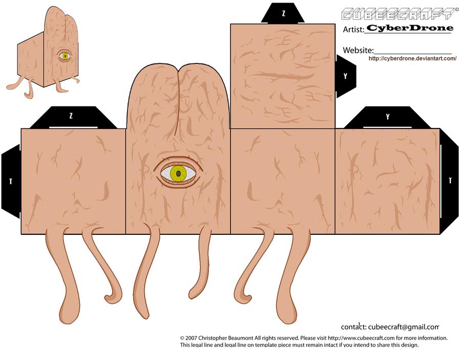 Cubee - Dalek Mutant 'v1' by CyberDrone