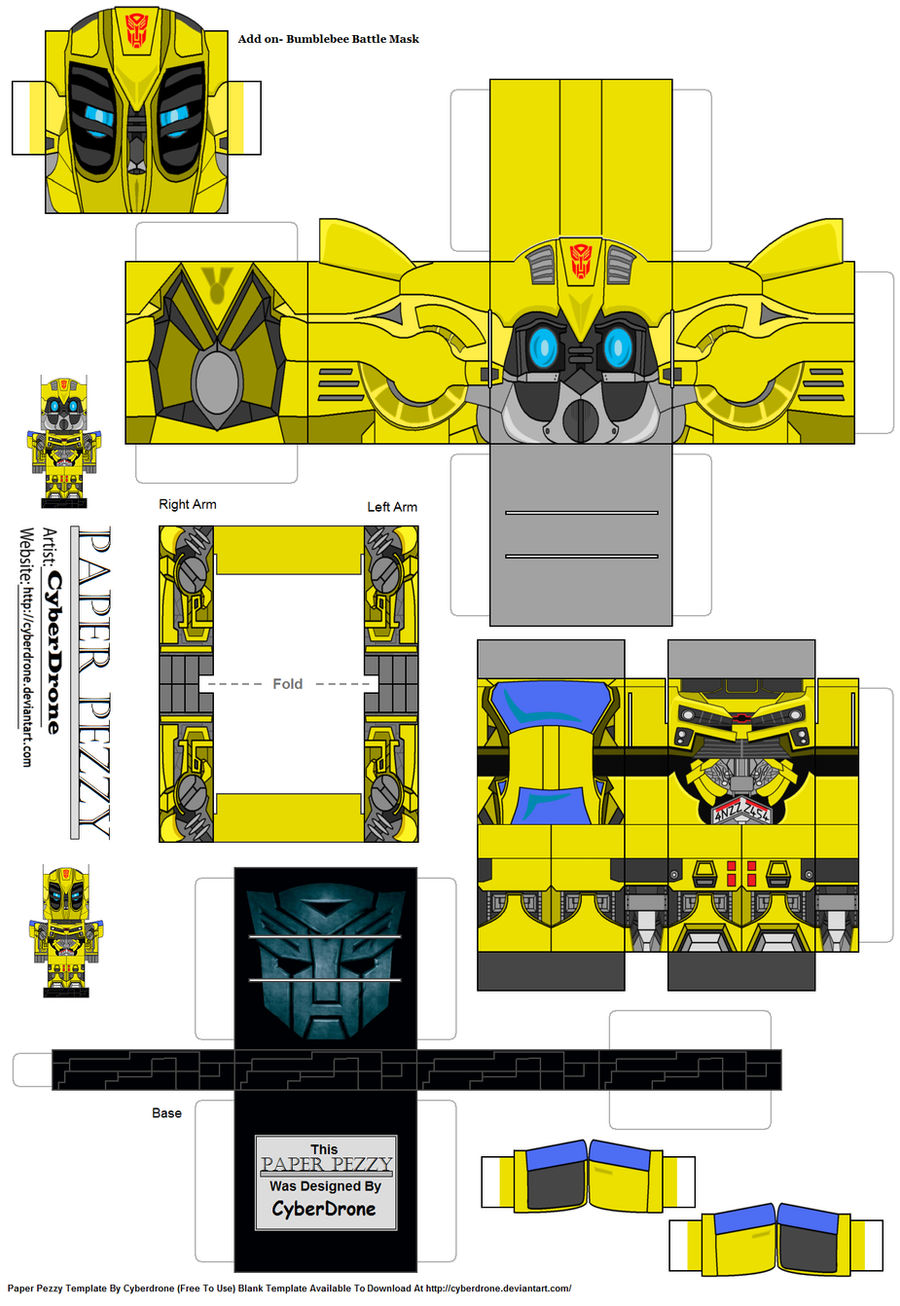 Bumblebee Transformers Papercrafts