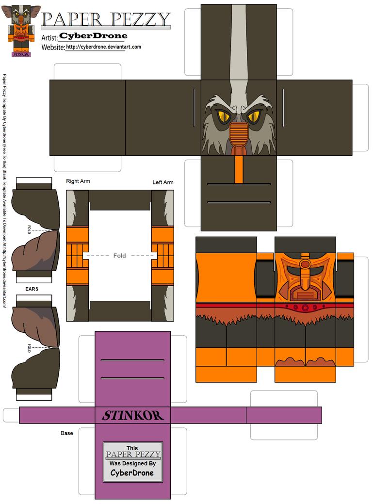 Paper Minecraft Steve Paper pezzy- stinkor '200x' by