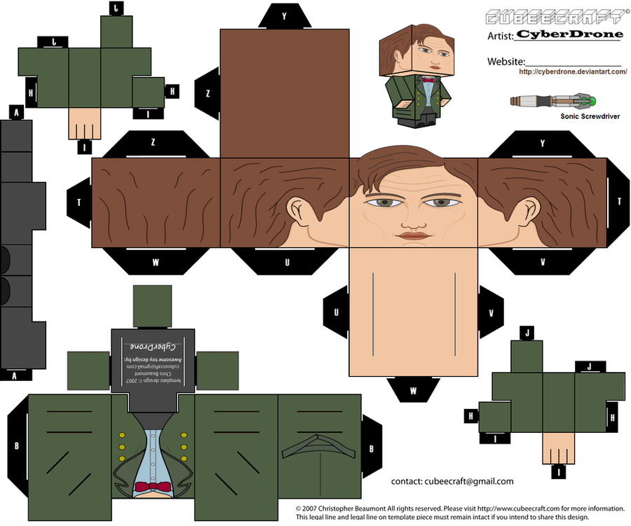 Cubee - 11th Doctor 'Ver6' by CyberDrone