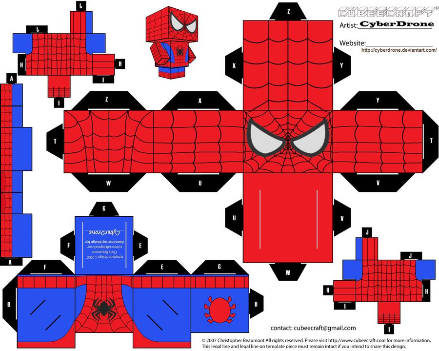 Cubee spider man by cyberdrone on deviantart - Piezas lego gigantes ...