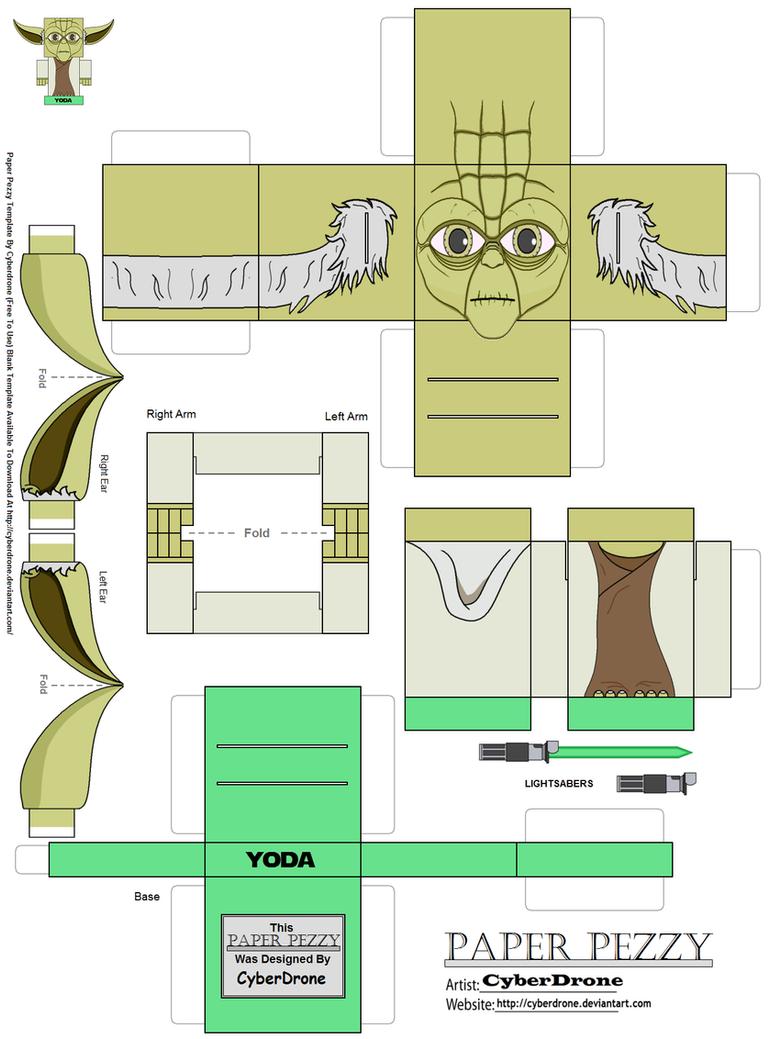 Paper Pezzy- Yoda by CyberDrone