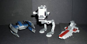 LEGO-Mini Star Wars Vehicles by CyberDrone