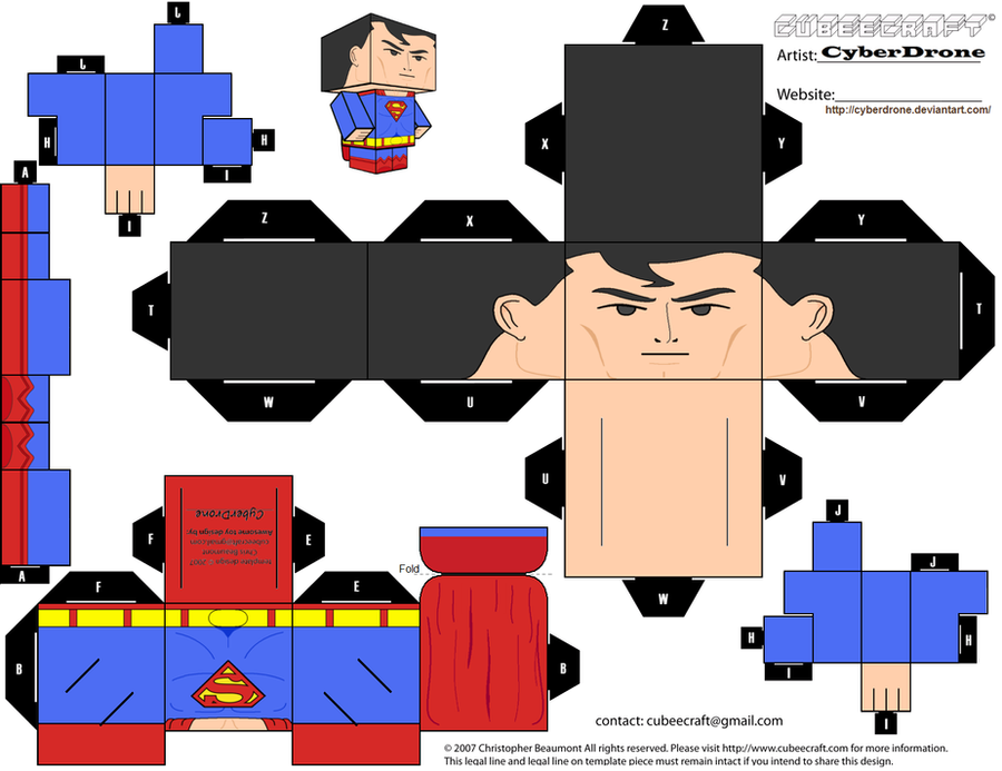 Comics Characters Custom Cubee Templates By Cyberdrone On
