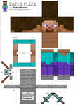 Paper Pezzy- Steve 'Minecraft' by CyberDrone