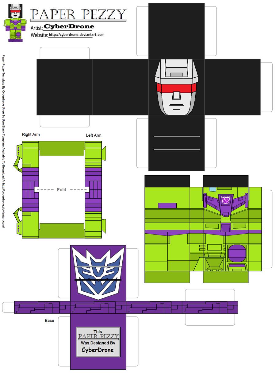 Paper Pezzy Devastator G1 By CyberDrone