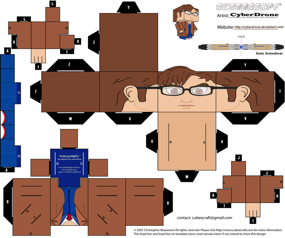 Cubee - The 10th Doctor by CyberDrone