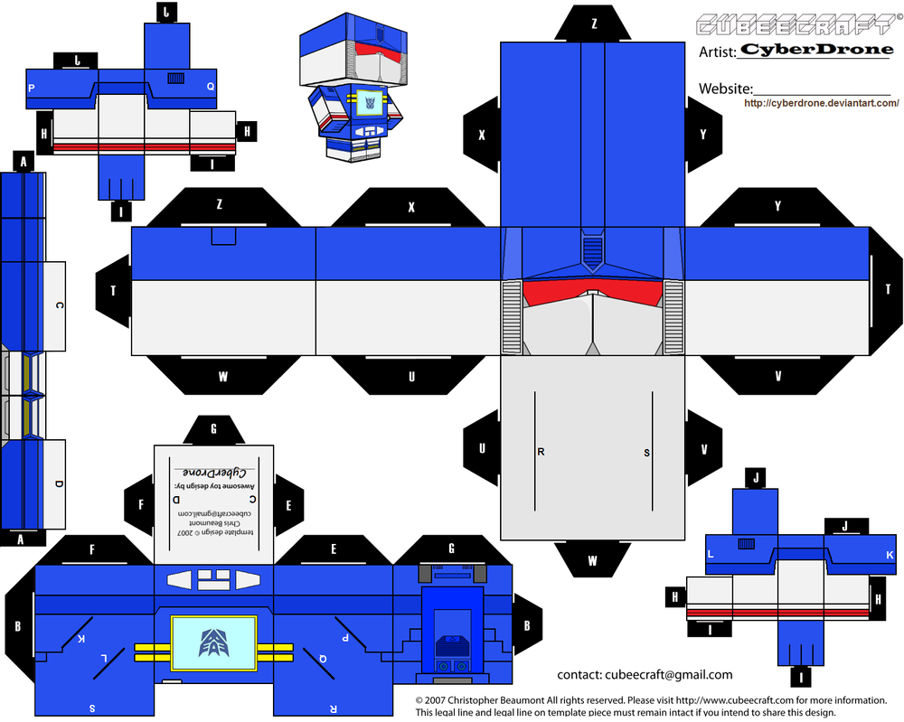 Cubee Soundwave Cyberdrone Deviantart