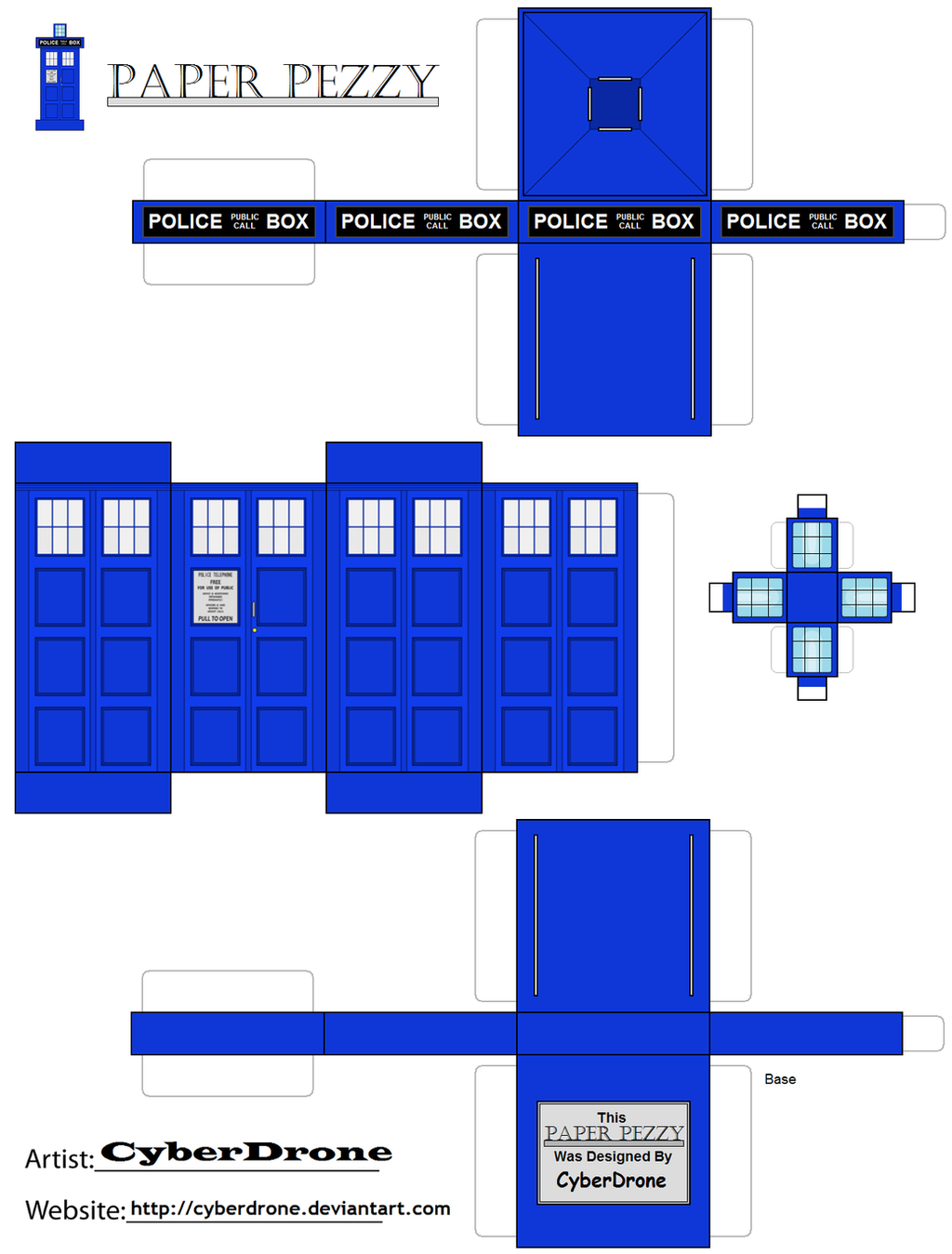 Paper Pezzy- TARDIS '10th Doctor Version' by CyberDrone