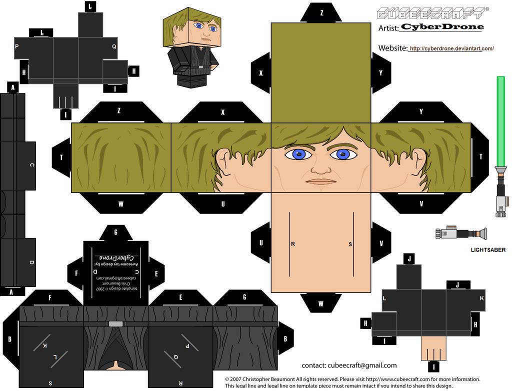 cubee luke skywalker 39 jedi 39 by cyberdrone on deviantart. Black Bedroom Furniture Sets. Home Design Ideas