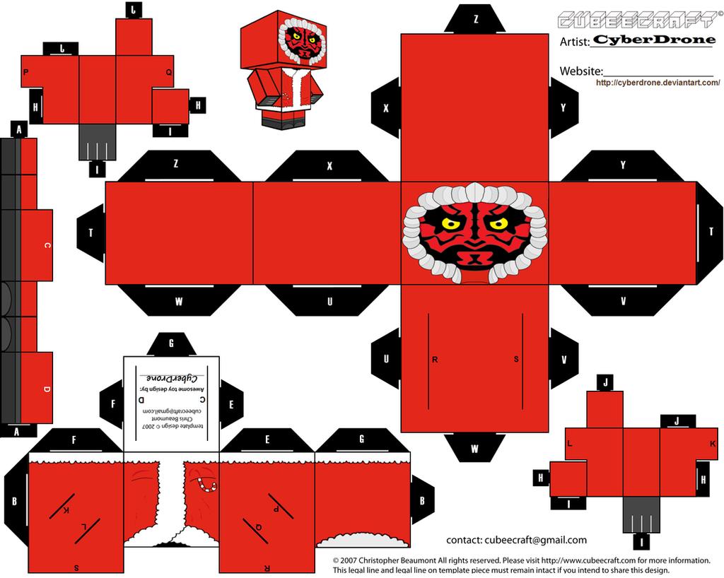 Cubee - \'Santa\' Darth Maul by CyberDrone on DeviantArt