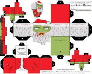 Cubee - Zombie Santa by CyberDrone