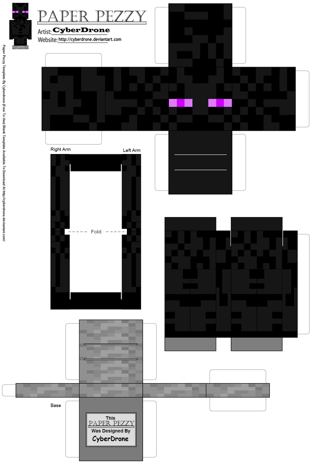 CyberDrone 8 0 Paper Pezzy Enderman Minecraft By