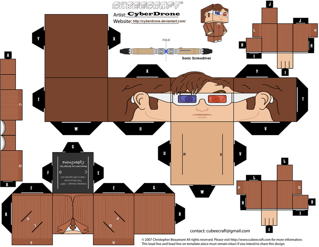 cubee the 10th doctor 39 3d glasses 39 by cyberdrone on deviantart