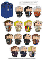 Cubeecraft - Doctor Who by CyberDrone