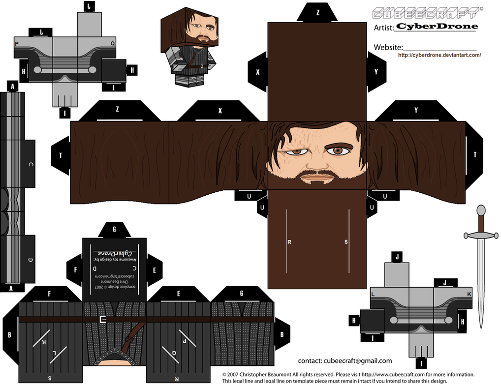 Cubee - Sandor 'The Hound' Clegane by CyberDrone