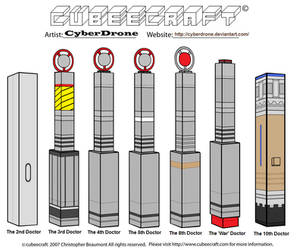 Cubeecraft - The Doctor's Sonic Screwdrivers