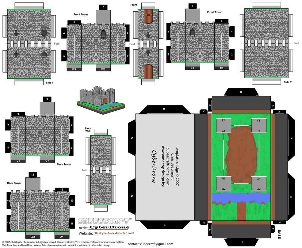 cut out castle template - cubee castle by cyberdrone on deviantart