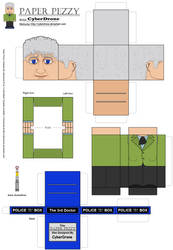 Paper Pezzy- The 3rd Doctor by CyberDrone