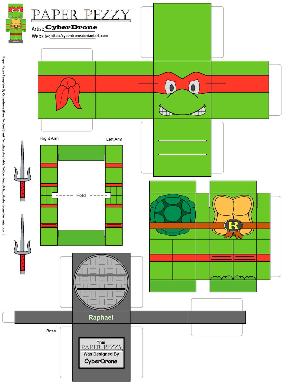 Figuras de papel de las tortugas ninja manualidades de papel for Sillas para armar y recortar