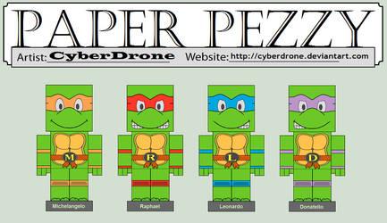Paper Pezzy - Teenage Mutant Ninja Turtles by CyberDrone