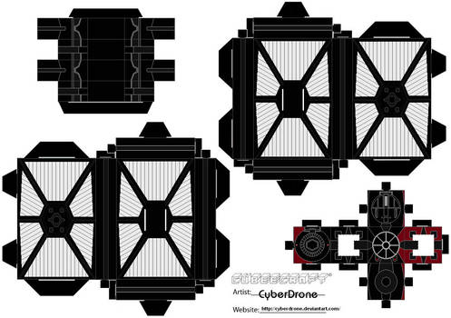 Cubee - First Order Tie Fighter