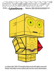 Cubeecraft - C-3PO 'The Force Awakens'