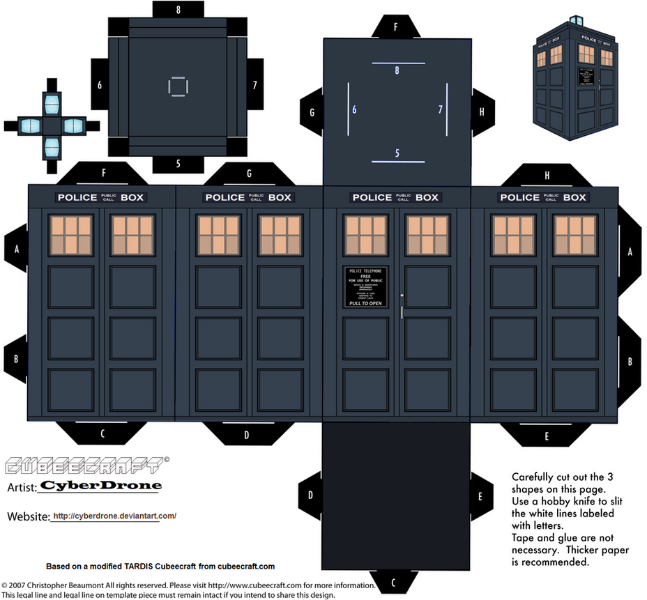 Cubee - TARDIS (13th Doctor) by CyberDrone on DeviantArt