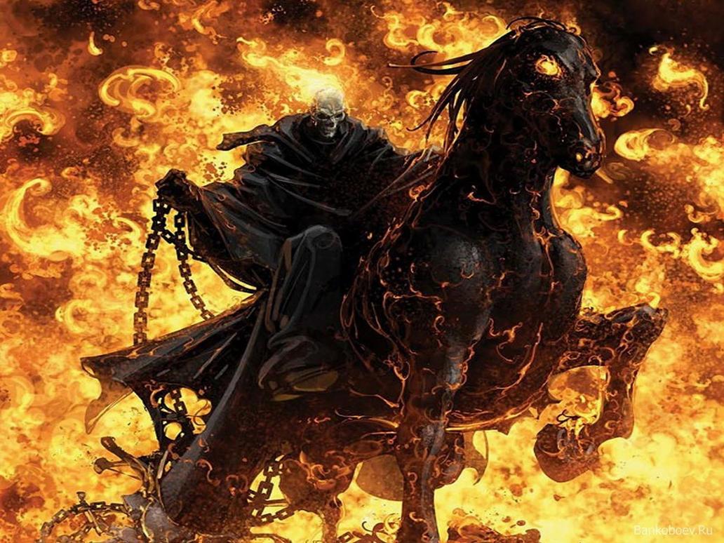 ghost rider fire skull desktop wallpaper by