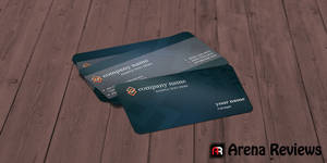 Gray-business-card-template by ArenaReviews