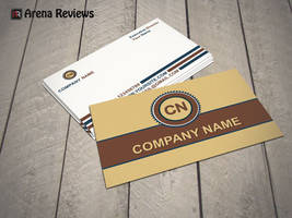 Yellow Business Card Template by ArenaReviews