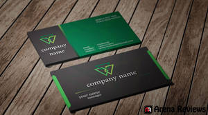 Black and Green Card Template by ArenaReviews