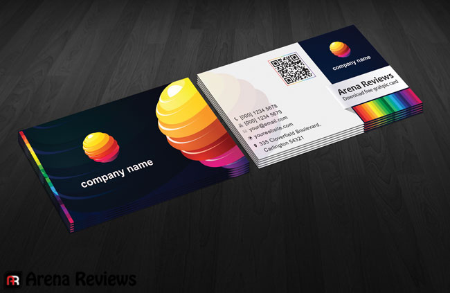 Multi color business card by arenareviews on deviantart multi color business card by arenareviews colourmoves