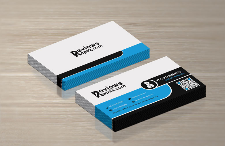 black white blue business card template by arenareviews on deviantart