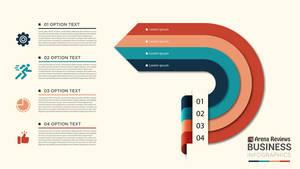 Modern Business Infographics Arrow Circle 4 Steps