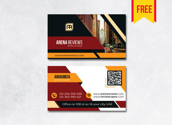 Building Business Card Design PSD Free