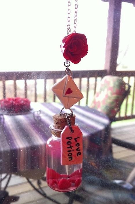 Valentines Day Love Potion necklace by XxSierraRose