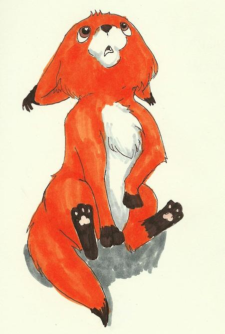 Baby fox by Earthstripe09